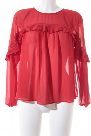 Mint&berry Langarm-Bluse rot Casual-Look