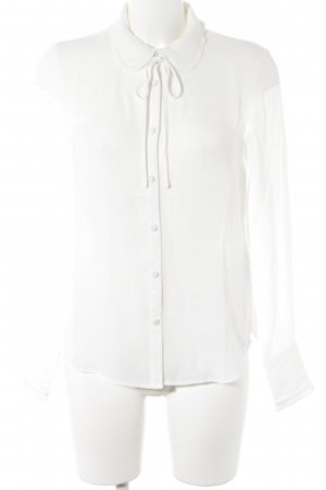 Mint&berry Langarm-Bluse weiß Romantik-Look