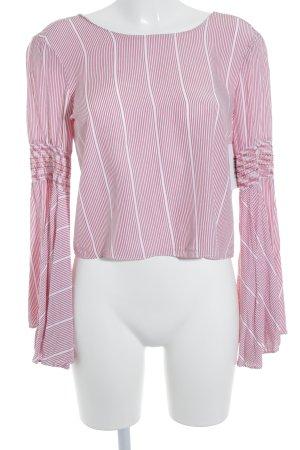 Mint&berry Langarm-Bluse wollweiß-dunkelrot Streifenmuster Casual-Look