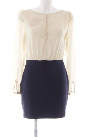 Mint&berry Langarmkleid creme-dunkelblau Elegant