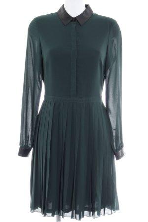 Mint&berry Langarmkleid dunkelgrün-schwarz Vintage-Look