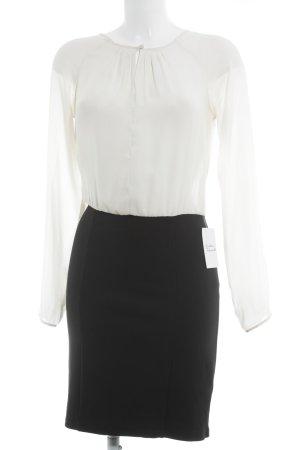 Mint&berry Langarmkleid schwarz-wollweiß Elegant