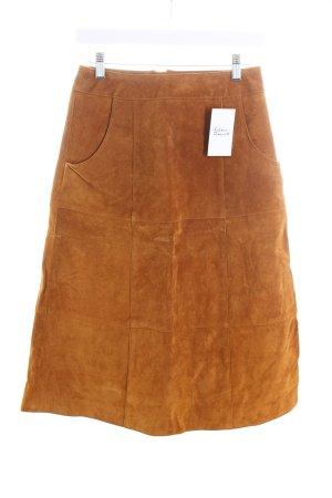 Mint&berry Lederrock camel 70ies-Stil
