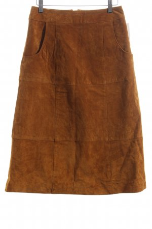 Mint&berry Leather Skirt light brown '70s style