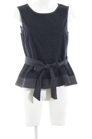 Mint&berry Haut long bleu foncé motif rayé style décontracté