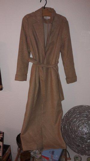 Mint & Berry Mantel Camel Coat Kamelhaar Beige Klassisch 38