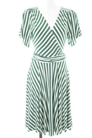 Mint&berry Midikleid grün-weiß Streifenmuster Casual-Look