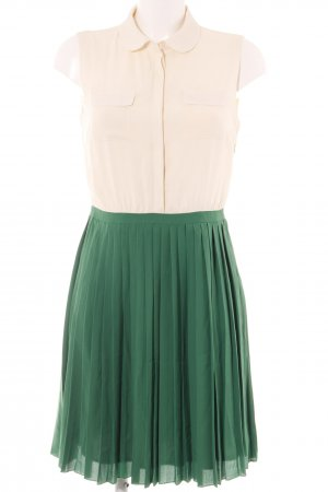 Mint&berry Midikleid creme-grün Casual-Look