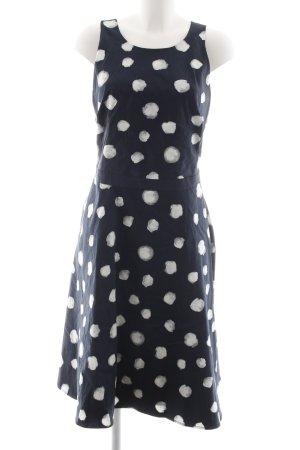 Mint&berry Midikleid dunkelblau-weiß Punktemuster 60ies-Stil