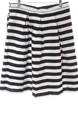 Mint&berry Midirock schwarz-weiß Streifenmuster Casual-Look