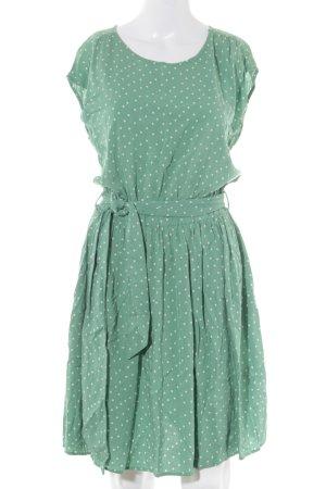 Mint&berry Minikleid hellgrün-weiß Punktemuster Casual-Look