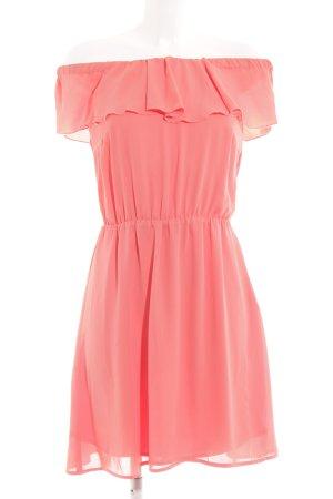 Mint&berry Minikleid lachs Romantik-Look