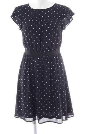 Mint&berry Minikleid schwarz-weiß Punktemuster Romantik-Look