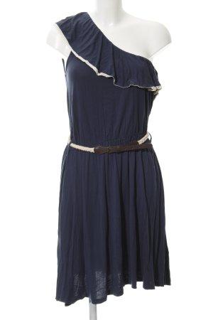 Mint&berry One Shoulder Dress dark blue Crochet detail