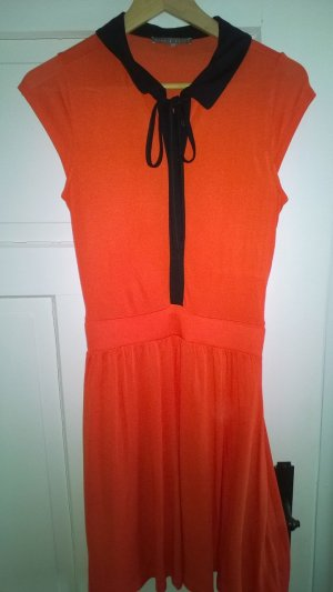 Mint&Berry orange /schwarz Blusenkleid - poppy red ,Gr.S