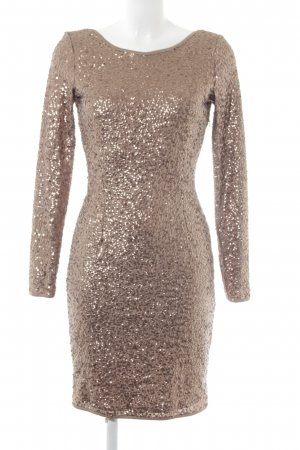 Mint&berry Vestido de lentejuelas color bronce estilo fiesta