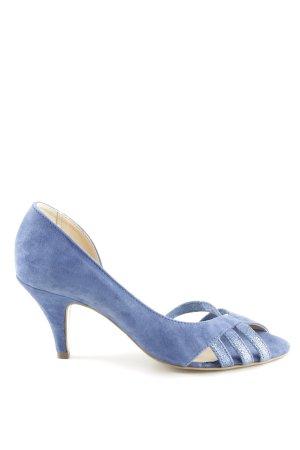 Mint&berry Peeptoe Pumps neonblau klassischer Stil
