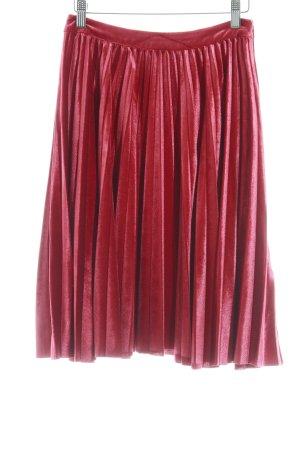 Mint&berry Pleated Skirt dark red elegant