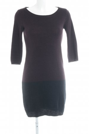 Mint&berry Sweaterjurk karmijn-zwart casual uitstraling
