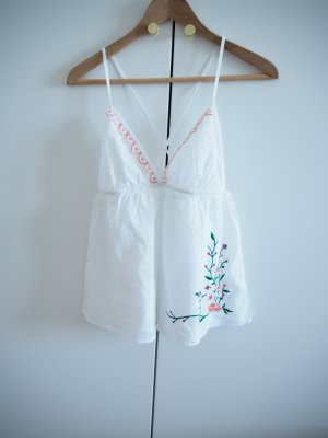 Mint&berry Pyjama white-apricot cotton