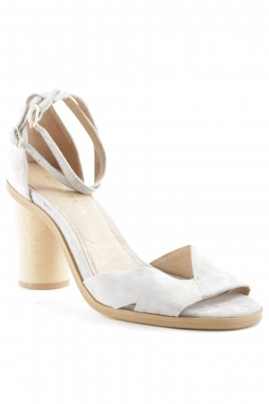 Mint&berry Strapped High-Heeled Sandals cream-light grey business style