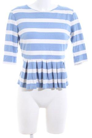 Mint&berry Camisa de rayas azul-blanco estampado a rayas look casual