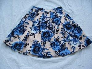 Mint & Berry Rock beige blau geblümt Gr.34, neu