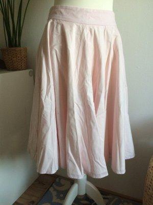 Mint&Berry Rock S 36 neu rosa puderrosa mit seitlichen Taschen Falten Sommer Frühling