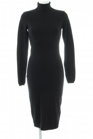 Mint&berry Vestido de tubo negro look casual