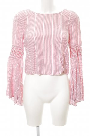 Mint&berry Schlupf-Bluse weiß-dunkelrot Streifenmuster Beach-Look