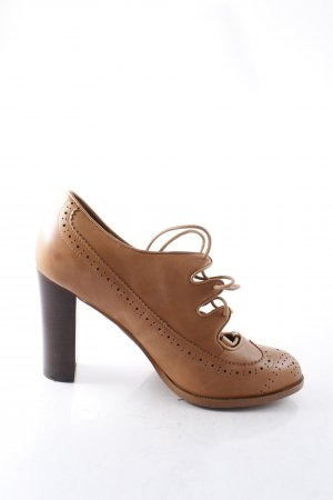 Mint&berry Schnür-Pumps cognac Retro-Look