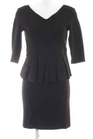 Mint&berry Schößchenkleid schwarz Elegant