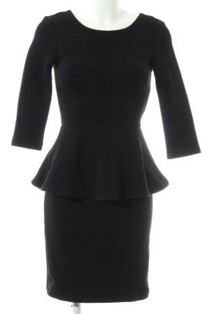 Mint&berry Schößchenkleid schwarz Business-Look