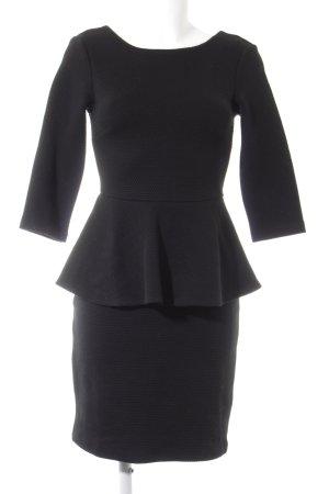 Mint&berry Vestido peplum negro elegante