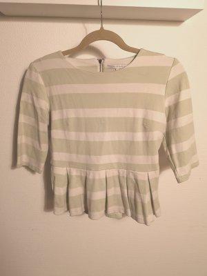 mint&berry Shirt mit 3/4-Ärmeln, mint-gestreift, Gr. 36/S