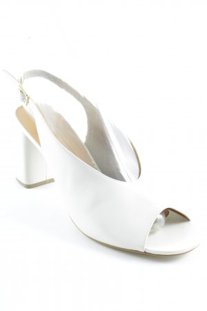 Mint&berry Slingback Pumps natural white leather