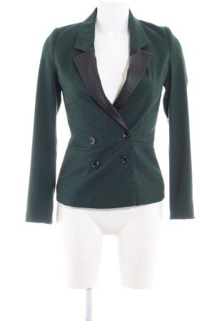 Mint&berry Blazer de esmoquin verde bosque-negro estilo «business»