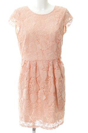 Mint&berry Kanten jurk abrikoos bloemen patroon Geweldige look