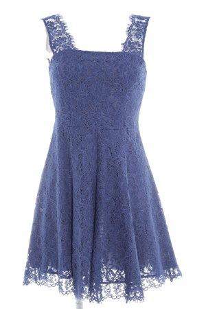Mint&berry Spitzenkleid blau florales Muster Elegant