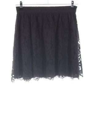 Mint&berry Kanten rok zwart casual uitstraling