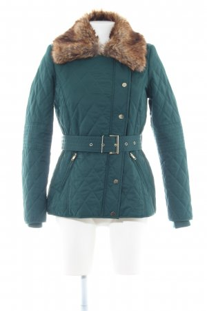 Mint&berry Steppjacke grün-braun Steppmuster Casual-Look