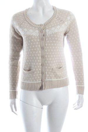 Mint&berry Strickjacke beige-weiß klassischer Stil
