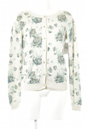 Mint&berry Strickjacke florales Muster Casual-Look