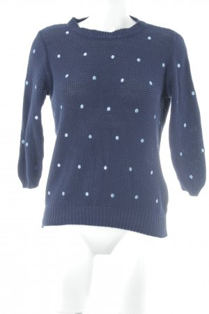 Mint&berry Strickpullover dunkelblau Punktemuster Casual-Look
