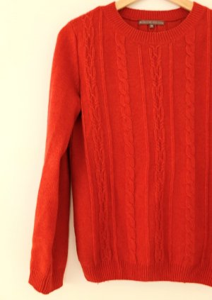 mint&berry Strickpullover pumkin red melange