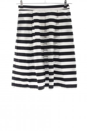 Mint&berry Circle Skirt black-white striped pattern business style