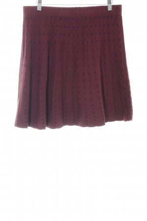 Mint&berry Circle Skirt bordeaux-blue spot pattern casual look