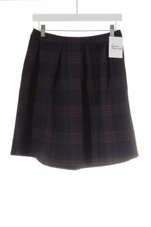 Mint&berry Circle Skirt dark blue-brown red check pattern skater style