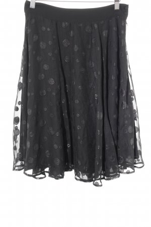Mint&berry Circle Skirt black spot pattern casual look