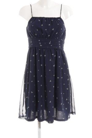 Mint&berry Trägerkleid blau-wollweiß Motivdruck Beach-Look